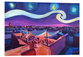 Quadro em PVC  Starry Night in Marrakech   Van Gogh Inspirations on Fna Market Place in Morocco - M. Bleichner