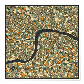 Póster Premium London Map