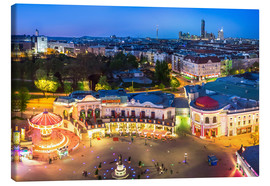 Quadro em tela  View from the Vienna Giant Ferris Wheel on the Prater - Benjamin Butschell