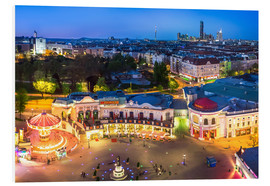 Quadro em PVC  View from the Vienna Giant Ferris Wheel on the Prater - Benjamin Butschell