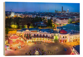 Quadro de madeira  View from the Vienna Giant Ferris Wheel on the Prater - Benjamin Butschell