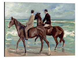 Quadro em alumínio  Two riders on the beach - Max Liebermann