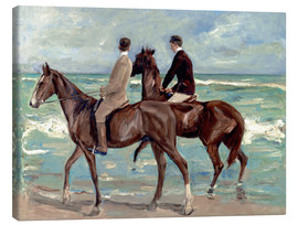 Quadro em tela  Two riders on the beach - Max Liebermann