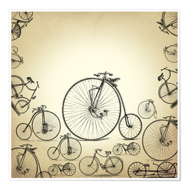 Póster Premium Bicycles