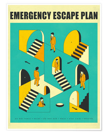 Póster Premium  Emergency Escape Plan 1 - Jazzberry Blue