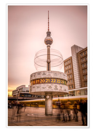 Póster Premium World Timer Berlin