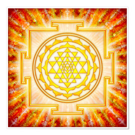 Póster Premium  Sri Yantra - artwork light - Dirk Czarnota