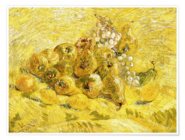 Póster Premium  Quinces, Lemons, Pears and Grapes - Vincent van Gogh