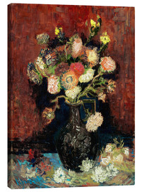 Quadro em tela  Vase with Chinese Asters and Gladioli - Vincent van Gogh