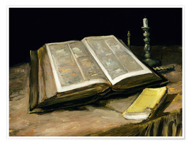 Póster Premium Still Life with Bible