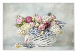 Póster Premium  a basket full of spring - Lizzy Pe