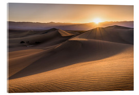 Quadro em acrílico  Sunset at the Dunes in Death Valley - Andreas Wonisch