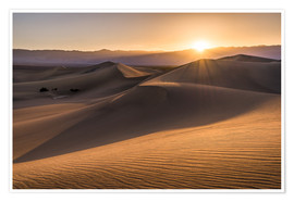 Póster Premium  Sunset at the Dunes in Death Valley - Andreas Wonisch