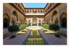 Póster Premium  Court of the virgins in the Alcazar - Matteo Colombo