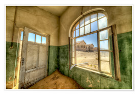 Póster Premium  Sand in the premises of an abandoned house - Robert Postma