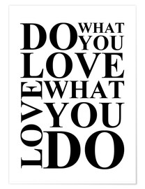 Póster Premium Do what you love