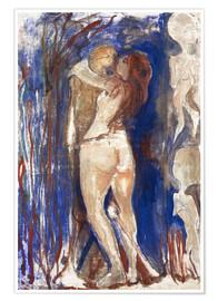 Póster Premium  Death and Life - Edvard Munch