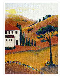 Póster Premium Colours of Tuscany
