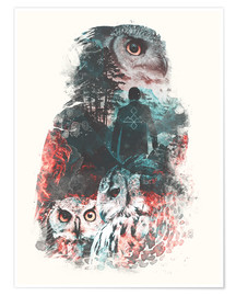 Póster Premium  The Owls are Not What They Seem - Barrett Biggers