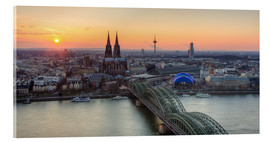 Quadro em acrílico  Panorama view of Cologne at sunset - Michael Valjak