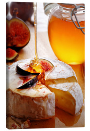 Quadro em tela  Brie Cheese and Figs with honey - Johan Swanepoel