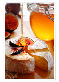 Póster Premium  Brie Cheese and Figs with honey - Johan Swanepoel