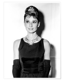 Póster Premium  Audrey Hepburn in Breakfast at Tiffany's