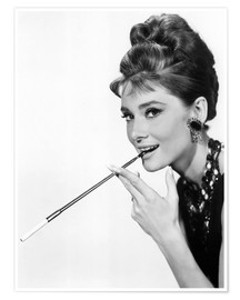 Póster Premium  Audrey Hepburn, foto promocional do filme Breakfast at Tiffany's