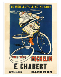 Póster Premium  Bicycle tires Michelin - H.L. Roowy