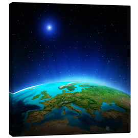 Quadro em tela  Europe on planet Earth