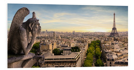Quadro em PVC  View over Paris from Notre Dame