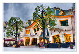 Póster Premium  Crooked house in Sopot