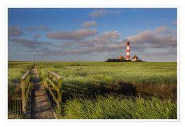 Póster Premium  Lighthouse in the salt marshes on the North Coast