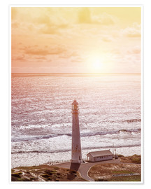 Póster Premium  Morning glow at the lighthouse