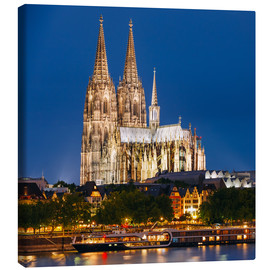 Quadro em tela  Night view of Cologne Cathedral