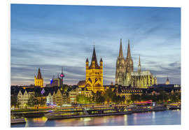 Quadro em PVC  Overlooking the historic center of Cologne