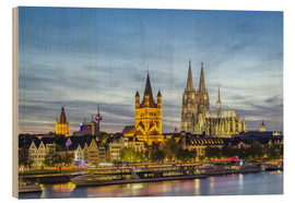 Quadro de madeira  Overlooking the historic center of Cologne