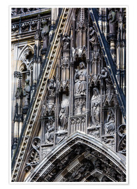 Póster Premium  Facades detail at Cologne Cathedral