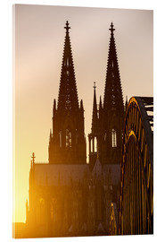 Quadro em acrílico  Sunset behind the Cologne Cathedral