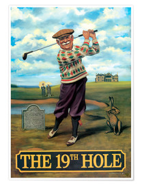 Póster Premium  The 19th Hole - Peter Green's Pub Signs Collection
