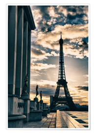 Póster Premium  Colors of Eiffel Tower in Winter