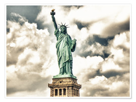 Póster Premium  Statue of Liberty - symbol of New York