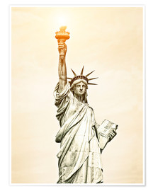 Póster Premium  Liberty Statue in New York, USA