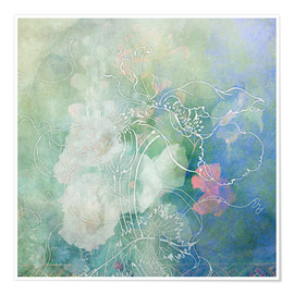 Póster Premium  Abstract flowers - Aimee Stewart