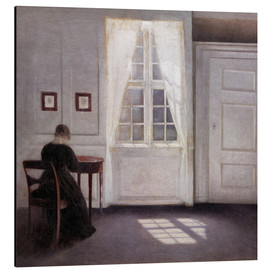 Quadro em alumínio  Interior from Strandgade with sunlight on the floor - Vilhelm Hammershøi