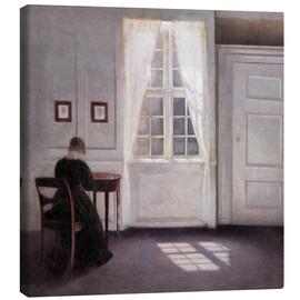 Quadro em tela  Interior from Strandgade with sunlight on the floor - Vilhelm Hammershøi