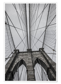 Póster Premium  Ponte do Brooklyn em Nova York
