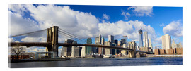 Quadro em acrílico  Panoramic Brooklyn Bridge and Manhattan skyline