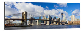 Quadro em alumínio  Panoramic Brooklyn Bridge and Manhattan skyline