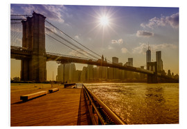 Quadro em PVC  Brooklyn Bridge, New York, USA